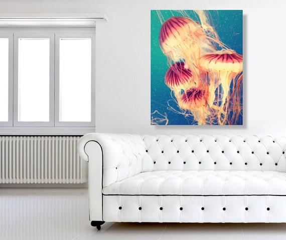 Nautical Kitchen Wall Decor : Items similar to jellyfish nautical decor kitchen wall