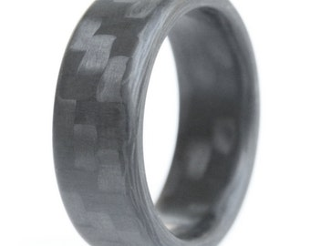 Twill Roundy - Carbon Fiber Ring