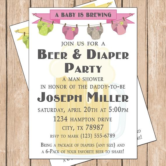 Diaper Invites Template for amazing invitations layout