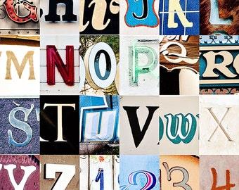 Santa Barbara, California, Alphabet Collage, Vintage Style Art, Photographic Print, Kristine Cramer Photography