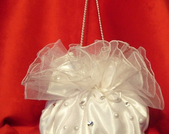 Bridal Bag Wedding Accessories Money Bag Bridal Accessories Flower Girl Pouch Bridal Purse Bride To Be