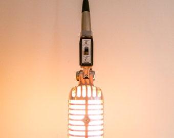 Fat Boy Vintage-Styled LED Shure Microphone Hanging Lamp