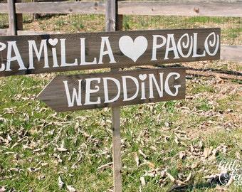 Arrow Wedding Sign, Wooden Arrow Sign, Rustic Wedding Signage, Beach Wedding Decor, Personalized Wedding Sign, Custom Arrow Sign, Country