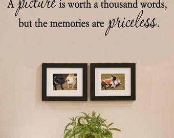 Slap-Art™ A picture is worth a thousand words but the Vinyl Wall Art Decal Sticker lettering saying uplifting inspirational quote verse