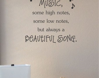 Slap-Art™ Family is like music Vinyl Wall Art Decal Sticker lettering saying uplifting inspirational quote verse