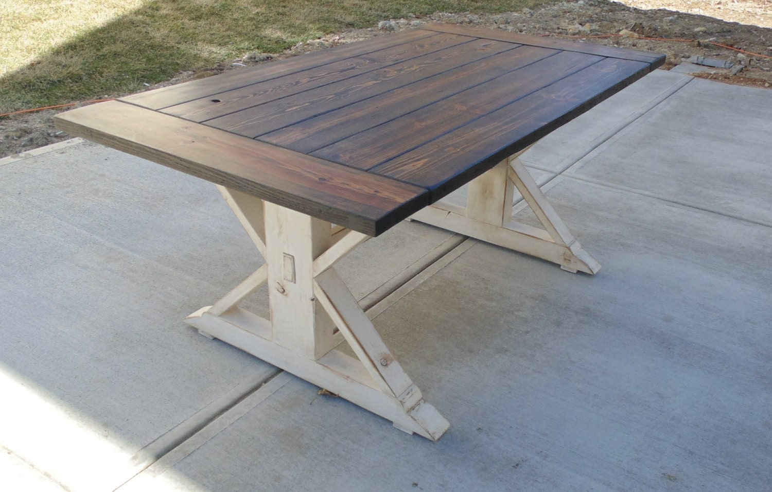 50 best farmhouse trestle table for Reclaimed wood sources