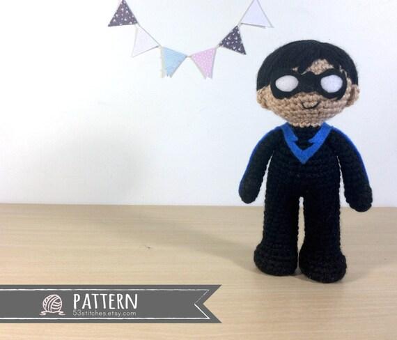 Nightwing Amigurumi Crochet Doll Pattern