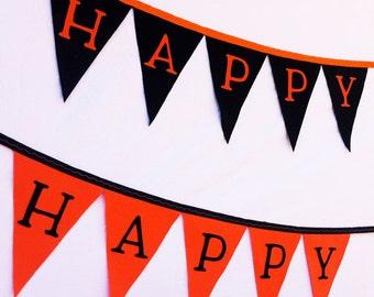 Black & Orange Halloween Felt Banner