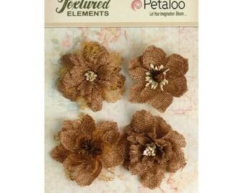 CLEARANCE! Petaloo Burlap Blossoms Natural #1200-000