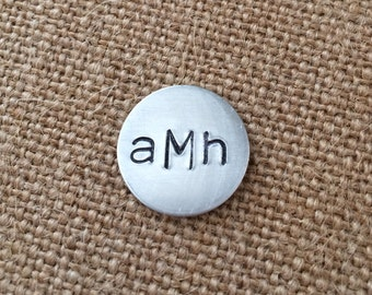Single Aluminum Golf Ball Marker- Personalized Ball Marker, Fathers Day Gift, Monogramed gifts, custom golf ball markers, custom golf balls