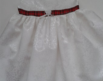 White Brocade Baby Dress and Jacket Only 1 left in size 12-18mths