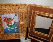 """1960s -1970s    """" BAMBOO """"  Faux  Picture Frames"""
