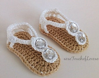 Beautiful Seaside Baby Sandals flip flops for girls with acrylic jewls