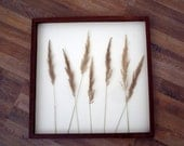 Handmade Picture Natural  dry grass-Rustic-Primitive Image-Image -Picture- Wooden Canvas - Wall Decor, Wall Art, Gift Idea-  Wall Decoration