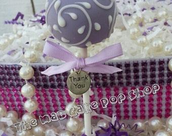 Lavender Cake Pop - Wedding Favor - Bridal Shower - Wedding - Edible Favor