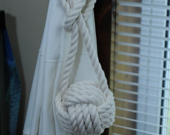 Large Monkey's Fist Curtain Tie Backs (this is for a pair)