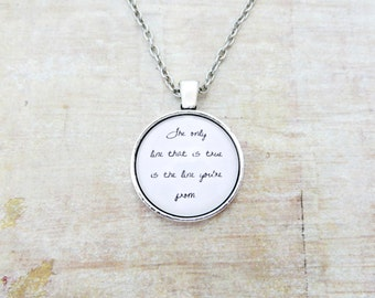 The Only Line That is True Handcrafted Pendant Necklace