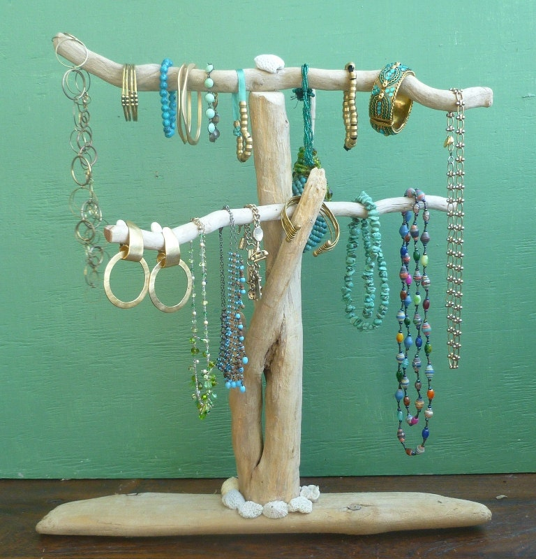 Driftwood Jewelry Stand Reclaimed Wood Jewelry Holder