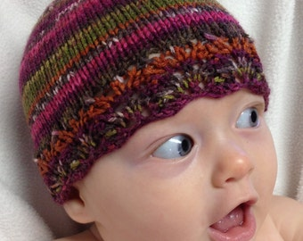 Multicolored Lacy Hat - Infant Size