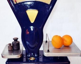 Scale, Large, Vintage Soviet Market Scales-60s - Home decor - Kitchen decor - Shop decor- Renovated
