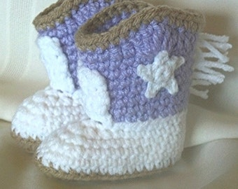 Crocheted Cowgirl Boots - Cowgirl Boots