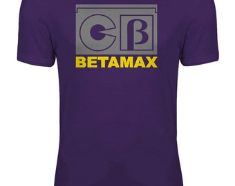 Betamax Video Cassette Retro Nostalgic Womens T-shirt