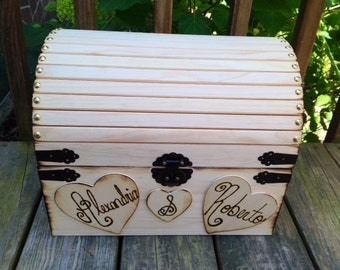 Large Rustic Wedding Card Box - Rustic Wooden Wedding Box - Shabby Chic Box - Well Wishes Box