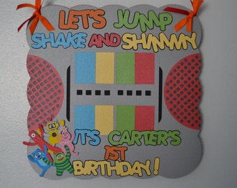 Yo Gabba Gabba Birthday Door Sign