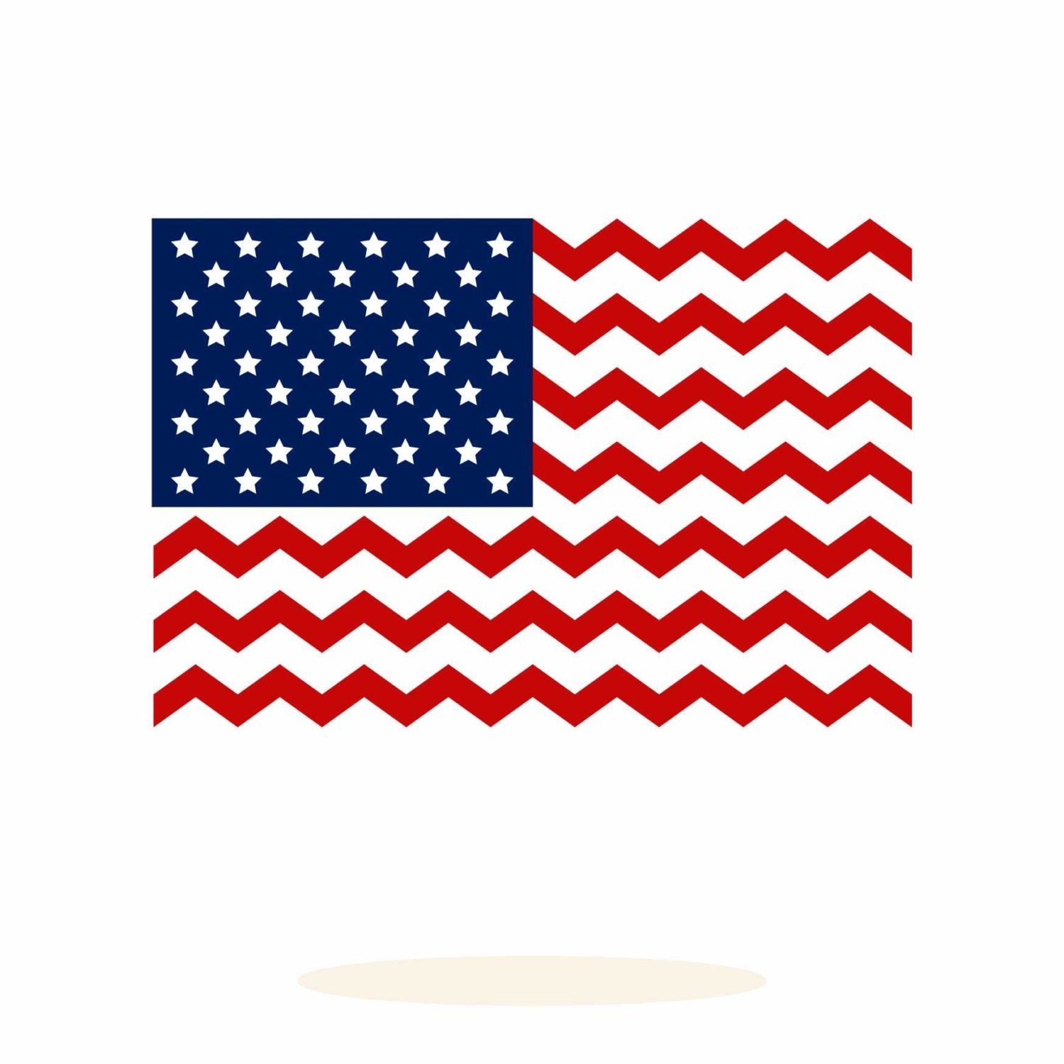 United States Flag Chevron Pattern Svg Dxf Vector Art By