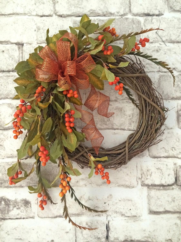 Berry Fall Wreath For Door Berry Wreath Front Door Wreath