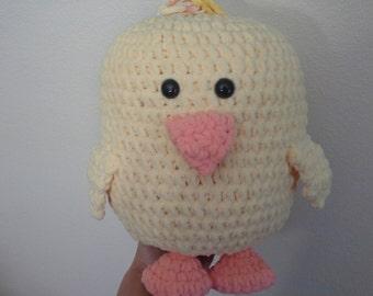 Crochet Baby Chick stuffed animal plushie