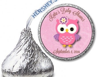 Custom Owl Baby Shower Hershey Kiss Labels!  Perfect for Favors!