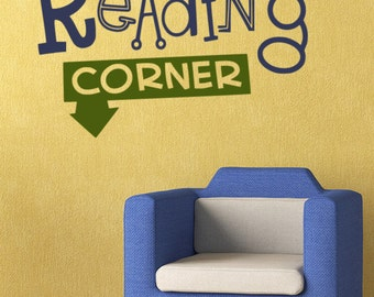 Classroom Wall Decal: Reading Corner - Llibrary Wall Sticker