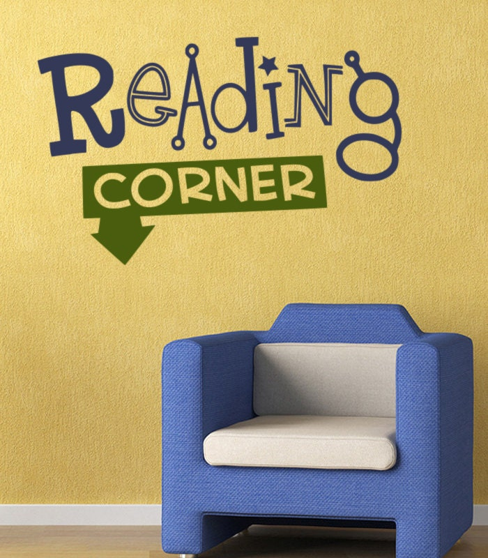 Classroom Wall Decal Reading Corner - Llibrary Wall Sticker