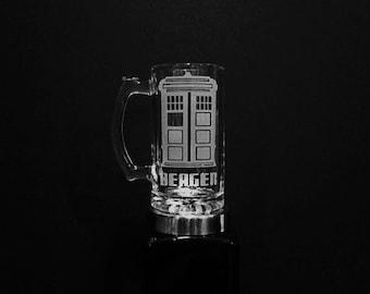 Personalized Doctor Who Themed Mug - Tardis Mug - Personalized Tardis Mug