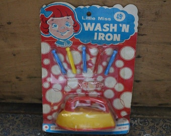 Little Miss Wash N' Iron Toy by Plasticraft in Original Packaging