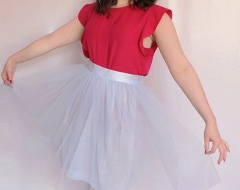 Light Blue Tulle Skirt Hollywood (more colors available)