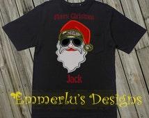 """Bearded """"Redneck"""" Themed Santa Christmas Shirt"""