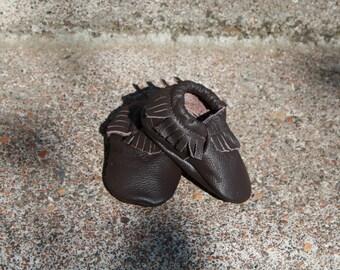 Childrens White Buckskin Shoes