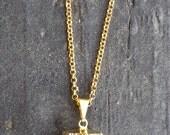 Raw Gold Quartz Necklace