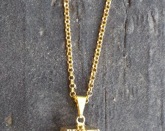 Raw Gold Quartz Necklace