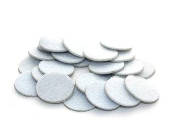 1 Inch White Adhesive Felt Circles - Felt Backing, Craft Felts