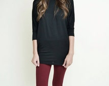 Women's Bohemian  clothing  tunic T shirt Assortment of colors white,cream,black,navy,burgandy eggplant purple ...