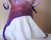 XMAS SALE - Felted Baby Hat in Pink & Purple - purple fade - funky winter hat - ArtileaArtfromWool