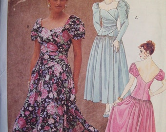 McCall's 6301. Sizes 10, 12, 14. Misses Dress. Pattern is uncut and FF.