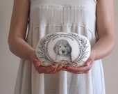 Personalized Wedding Ring Bearer Pillow Custom ring pillow hand painted unique pet portrait wedding ring pillow