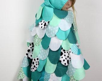 The Owl - Aqua - Handmade Children's Costume