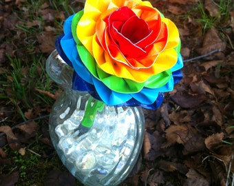 REUSABLE PEN TOPPER Duct Tape Rainbow Flower