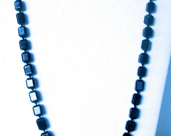Vintage French Jet Bead Graduated Necklace