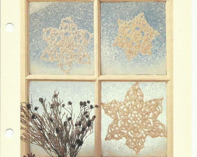 Snowflakes crochet pattern digital download